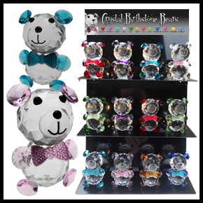 Crystal Birthstone Bears Top Up