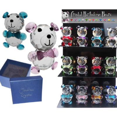 Crystal Birthstone Bear Display
